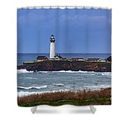 Pigeon Point Light Station In San Mateo County Ca Shower Curtain