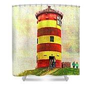 Pilsum Lighthouse Leuchtturm  Shower Curtain