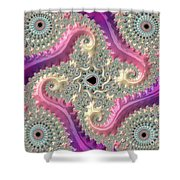 Pink Choreography Shower Curtain