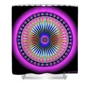 Pink Circus Sun  Shower Curtain by Visual Artist Frank Bonilla