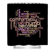 Pink Floyd - Comfortably Numb Lyrical Cloud Shower Curtain