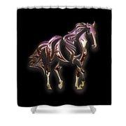 Purple Horse Shower Curtain