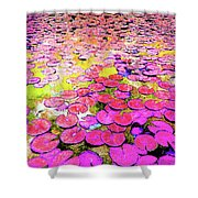 Pink Lily's Shower Curtain