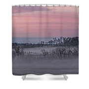 Pink Misty Morning #3 - Misty Field Shower Curtain by Patti Deters