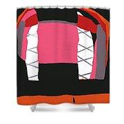 Pink Orange Shower Curtain