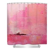 Pink Sky Abstract Shower Curtain