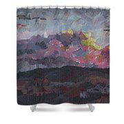 Pink Sky Delight Shower Curtain
