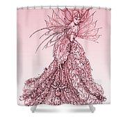 Pink Sussurus Shower Curtain
