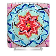 Pink, Yellow, Red Sun. Shower Curtain
