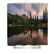 Pinnacle Peak Sunset Reflection Angles Shower Curtain