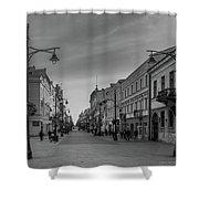 Piotrkowska Street Shower Curtain