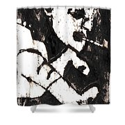 Pipe After Mikhail Larionov Black Oil Painting 4 Shower Curtain