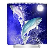Pisces Shower Curtain by Mark Taylor