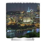 Pittsburgh Lights Shower Curtain