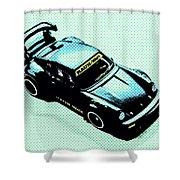 Pixel Porsche Shower Curtain