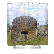 Plain Of Jars Shower Curtain