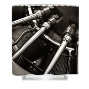 Plane Motor Shower Curtain