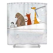 Plane Sailing Shower Curtain
