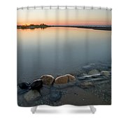 Platte River Sunset 2x1 Panorama Shower Curtain