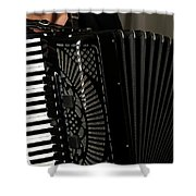Play The Accordion Shower Curtain