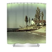 Point Betsie Lighthouse 2 Shower Curtain