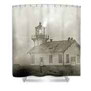 Point Cabrillo Lighthouse California Sepia Shower Curtain