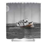 Point Reyes California Shipwreck Shower Curtain