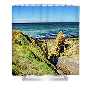 Pointe Du Hoc Panorama Shower Curtain