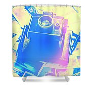 Polarised Pop Art Shower Curtain