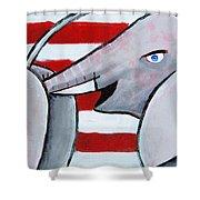 Politics Stick Shower Curtain