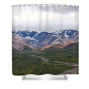 Polychrome Pass In Denali National Park Shower Curtain
