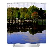 Pond Refletions Shower Curtain