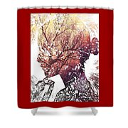 Pondering Fall Shower Curtain