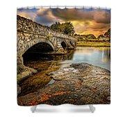 Pont Pen-y-llyn Bridge Snowdonia Shower Curtain