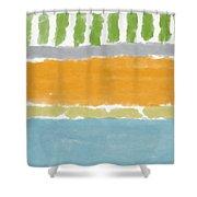 Poolside 1- Art By Linda Woods Shower Curtain