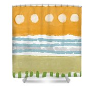 Poolside 2- Art By Linda Woods Shower Curtain