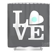 Pop Art Love In Gray Shower Curtain