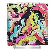 Pop Art Moes Shower Curtain