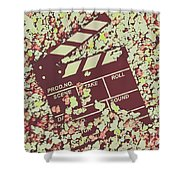Popcorn Premiere  Shower Curtain