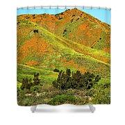 Poppy Hills And Gullies Shower Curtain