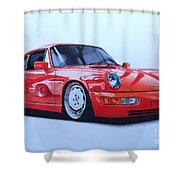 Porsche 964  Shower Curtain