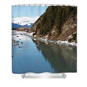 Portage Creek Portage Glacier Highway Alaska Shower Curtain