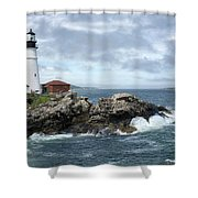 Portland Head Light House Shower Curtain