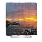 Portland Head Lighthouse Sunshine  Shower Curtain