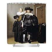 Portrait Of A Betrothed Couple  Shower Curtain