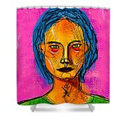 Portrait Of A Woman 1139 Shower Curtain
