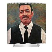 Portrait Of Artist Carl Butler Shower Curtain