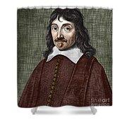 Portrait Of Descartes Shower Curtain