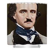Portrait Of Edgar Allan Poe, Circa 1849 Shower Curtain