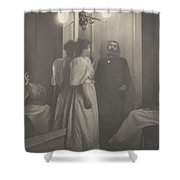 Portrait Of Henry Lerolle With Two Of His Daughters  Shower Curtain